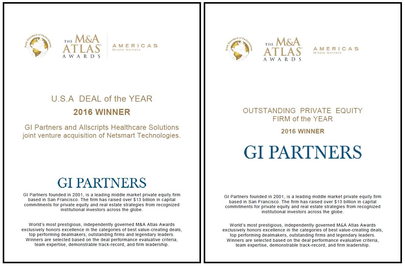 GI Partners Receives Two M&A Awards | News | GI Partners
